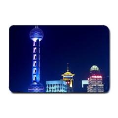 Shanghai Oriental Pearl Tv Tower Small Doormat  by BangZart