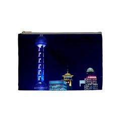 Shanghai Oriental Pearl Tv Tower Cosmetic Bag (medium)