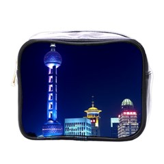 Shanghai Oriental Pearl Tv Tower Mini Toiletries Bags by BangZart