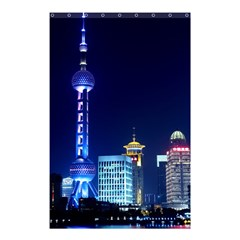 Shanghai Oriental Pearl Tv Tower Shower Curtain 48  X 72  (small)  by BangZart