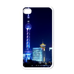 Shanghai Oriental Pearl Tv Tower Apple Iphone 4 Case (white)