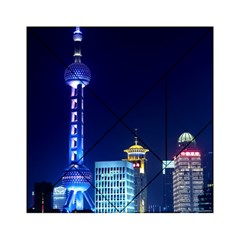 Shanghai Oriental Pearl Tv Tower Acrylic Tangram Puzzle (6  X 6 ) by BangZart