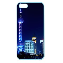 Shanghai Oriental Pearl Tv Tower Apple Seamless Iphone 5 Case (color) by BangZart