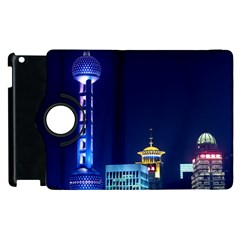 Shanghai Oriental Pearl Tv Tower Apple Ipad 2 Flip 360 Case by BangZart