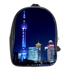 Shanghai Oriental Pearl Tv Tower School Bag (xl) by BangZart
