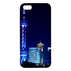 Shanghai Oriental Pearl Tv Tower Apple Iphone 5 Premium Hardshell Case by BangZart