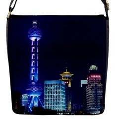 Shanghai Oriental Pearl Tv Tower Flap Messenger Bag (s) by BangZart