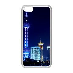 Shanghai Oriental Pearl Tv Tower Apple Iphone 5c Seamless Case (white)
