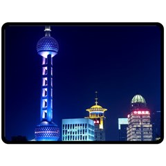 Shanghai Oriental Pearl Tv Tower Double Sided Fleece Blanket (large)  by BangZart