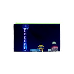 Shanghai Oriental Pearl Tv Tower Cosmetic Bag (xs) by BangZart