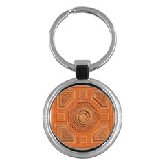 Symbolism Paneling Oriental Ornament Pattern Key Chains (round)  by BangZart