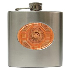 Symbolism Paneling Oriental Ornament Pattern Hip Flask (6 Oz)