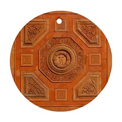 Symbolism Paneling Oriental Ornament Pattern Round Ornament (two Sides) by BangZart