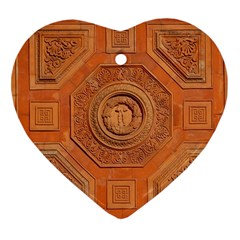Symbolism Paneling Oriental Ornament Pattern Heart Ornament (two Sides) by BangZart