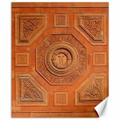 Symbolism Paneling Oriental Ornament Pattern Canvas 8  X 10