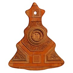 Symbolism Paneling Oriental Ornament Pattern Christmas Tree Ornament (two Sides)