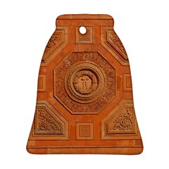 Symbolism Paneling Oriental Ornament Pattern Bell Ornament (two Sides)