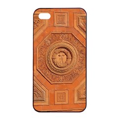 Symbolism Paneling Oriental Ornament Pattern Apple Iphone 4/4s Seamless Case (black)