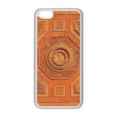 Symbolism Paneling Oriental Ornament Pattern Apple Iphone 5c Seamless Case (white)