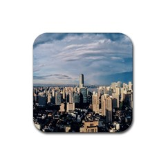 Shanghai The Window Sunny Days City Rubber Square Coaster (4 Pack)