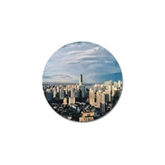 Shanghai The Window Sunny Days City Golf Ball Marker by BangZart