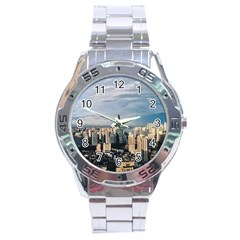 Shanghai The Window Sunny Days City Stainless Steel Analogue Watch