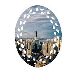 Shanghai The Window Sunny Days City Oval Filigree Ornament (two Sides) by BangZart