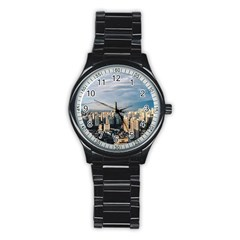 Shanghai The Window Sunny Days City Stainless Steel Round Watch by BangZart
