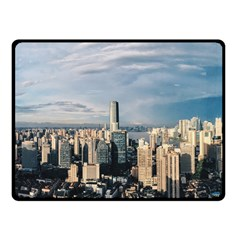 Shanghai The Window Sunny Days City Double Sided Fleece Blanket (small)  by BangZart
