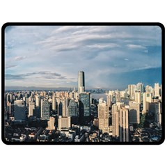 Shanghai The Window Sunny Days City Double Sided Fleece Blanket (large)  by BangZart