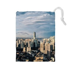 Shanghai The Window Sunny Days City Drawstring Pouches (large)