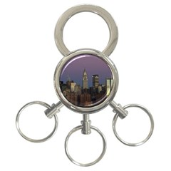 Skyline City Manhattan New York 3 Ring Key Chains by BangZart