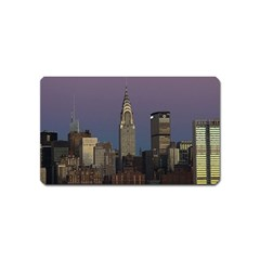 Skyline City Manhattan New York Magnet (name Card) by BangZart