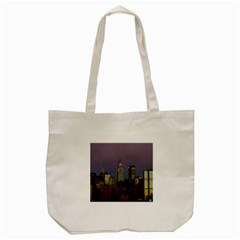 Skyline City Manhattan New York Tote Bag (cream)