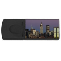 Skyline City Manhattan New York Rectangular Usb Flash Drive