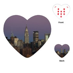 Skyline City Manhattan New York Playing Cards (heart)  by BangZart