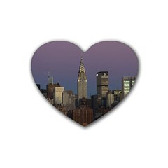 Skyline City Manhattan New York Heart Coaster (4 Pack)