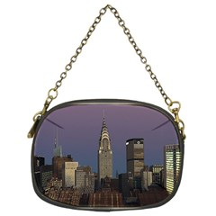 Skyline City Manhattan New York Chain Purses (two Sides)  by BangZart