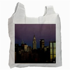 Skyline City Manhattan New York Recycle Bag (two Side)