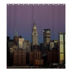 Skyline City Manhattan New York Shower Curtain 66  X 72  (large)