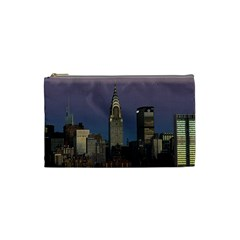 Skyline City Manhattan New York Cosmetic Bag (small)  by BangZart