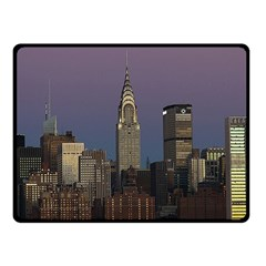 Skyline City Manhattan New York Fleece Blanket (small)