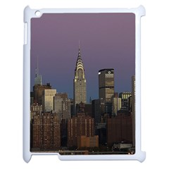 Skyline City Manhattan New York Apple Ipad 2 Case (white) by BangZart