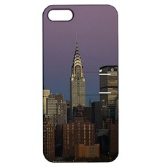 Skyline City Manhattan New York Apple Iphone 5 Hardshell Case With Stand