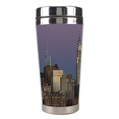 Skyline City Manhattan New York Stainless Steel Travel Tumblers by BangZart