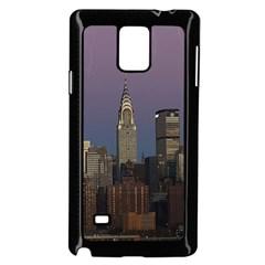 Skyline City Manhattan New York Samsung Galaxy Note 4 Case (black) by BangZart