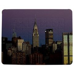 Skyline City Manhattan New York Jigsaw Puzzle Photo Stand (rectangular) by BangZart