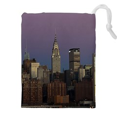 Skyline City Manhattan New York Drawstring Pouches (xxl) by BangZart