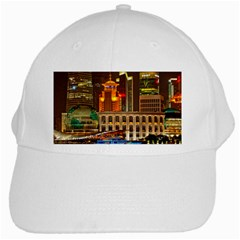 Shanghai Skyline Architecture White Cap by BangZart