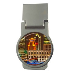 Shanghai Skyline Architecture Money Clips (round)  by BangZart